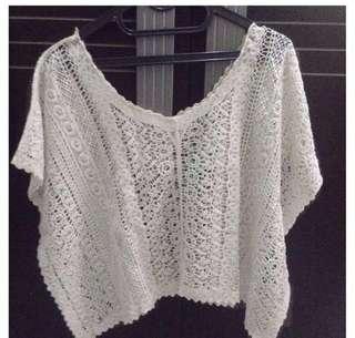 Knit Crop top / Boho / Vintage