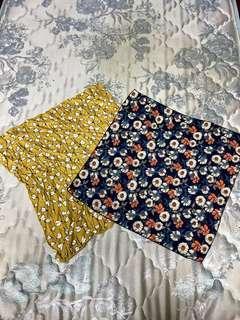 [女裝]日系 森林系 領巾 髮帶 碎花 方巾 復古