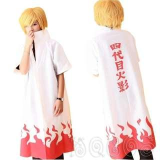 🚚 🉐 Namikaze Minato 4th Yondaime Hokage Long Coat (Cosplay)