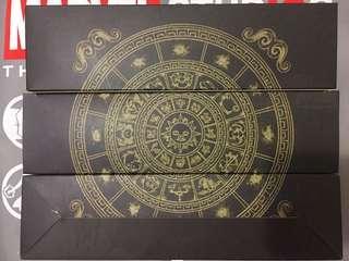 🚀[多年收藏全新未開] 黃金聖衣箱 聖鬥士星矢 一套十二宮 連名牌金條 合金超重手