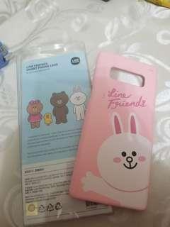 Line friends Note 8 case pink