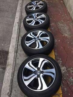 Honda City 2015 VX Mags with Tires
