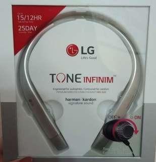 LG Bluetooth LG Tone infininum earphones (fast deal!)