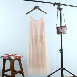 H&M pink tuelle dress