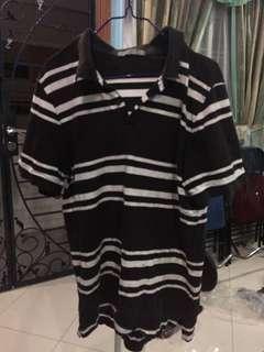 🚚 Black with white stripes polo T-shirt