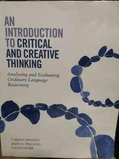 Intro to critical and creative thinking