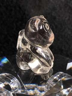 Chinese zodiac Animal- Smoky Quartz Crystal Monkey