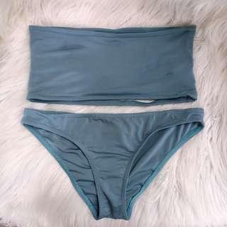 Ocean Essentials Backless Bandeau bikini set