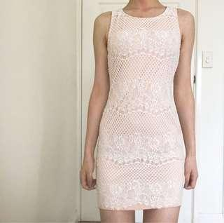 Pink Lace Formal Dress