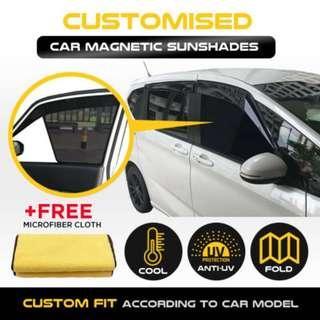 Custom Fit Magnetic Car Sunshade- Honda Shuttle 6pcs Magnetic Sunshades