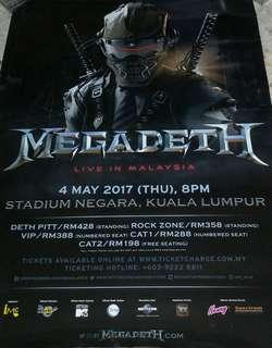 MEGADETH - LIVE IN MALAYSIA POSTER