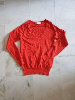 Zara red Sweatshirt