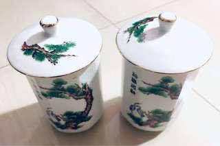 Phoenix twin glass cups