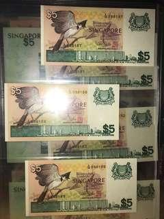 Auspicious & Golden Number $5 Bird Series