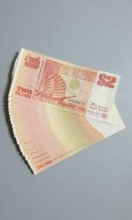 $2 Orange Ship Notes..22pcs runs
