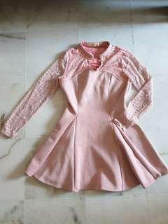 Light Pink modern cheongsam dress