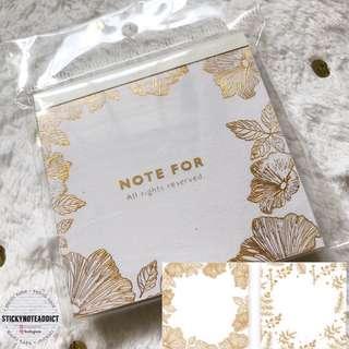 🚚 Metallic Gold Foil Mini Plants Memo Pad