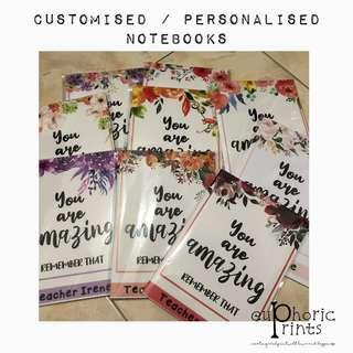 Personalised / Customised A5 Notebooks