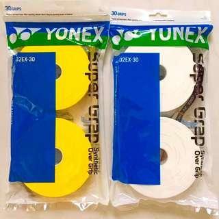 BNIP Sealed Yonex AC102EX-30 30pcs Supergrap Badminton/Tennis Overgrip