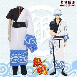 🚚 🉐 Sakata Gintoki Cosplay Set Gintama (Outer Long Coat + Inner Shirt + Pants)