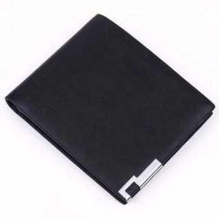 🚚 Short Horizontal Flat Wallet Men Plain Casual Korean Ulzzang Minimalist