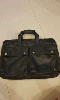 Porter bag with strap (black)