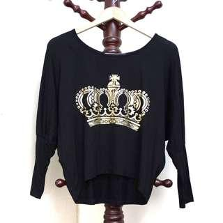 Crown Batwing-sleeves Top #NEW99