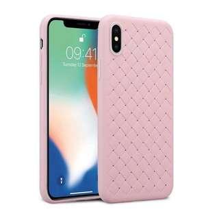 🚚 iPhone Pink Woven Pattern Case For Women X/XS
