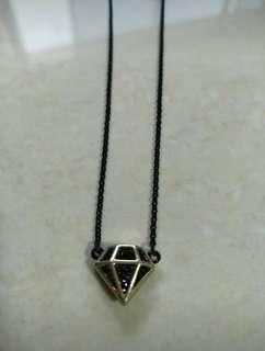 Diamond black bling shiny Necklace