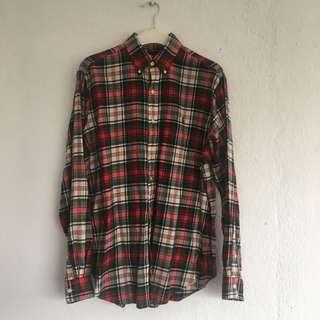 Polo ralph lauren plaid oversized fannel shirt