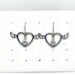 耳環💙全新心型閃石款(18)
