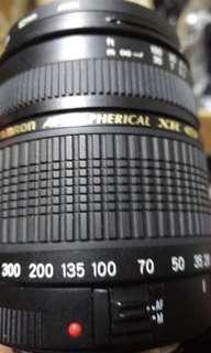 🚚 鏡頭 tamron XR 28 300mm for.canon.ef 小黴不影響 含前後蓋 保護鏡