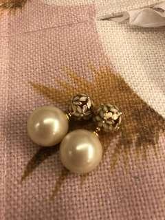 珍珠耳環 kate spade pear floral earrings