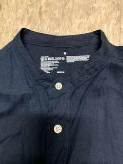 Muji dark blue shirt size M