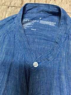Muji blue white shirt size M
