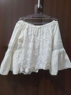 Baju bangkok Sabrina putih