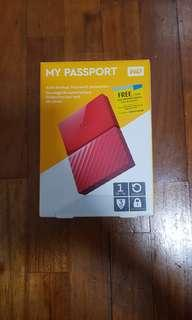WD My Passport Hard Drive 1 TB