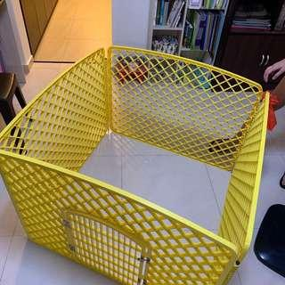 Pet Playpen/Enclosure/Cage (Yellow)