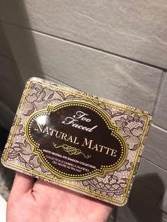 Too faced natural matte palette
