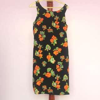 Handmade Sleeveless Floral Dress