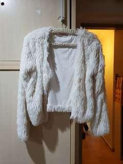 Suprè long sleeve fur jacket