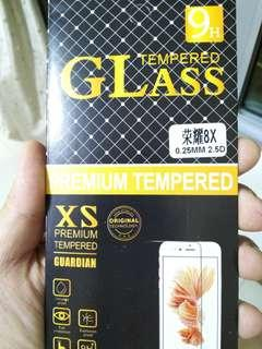 Honor 8x tempered glass n jelly case
