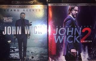 John Wick 1 & 2 4K UHD + Bluray