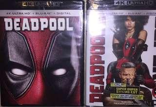 Deadpool 1 & 2 4K UHD + Bluray