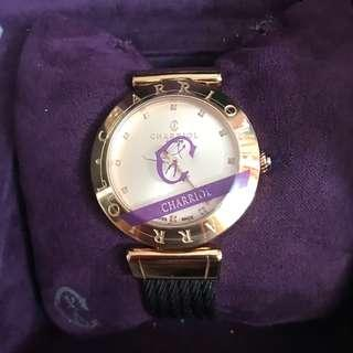 Brand new and authentic 34MM Charriol watch witn Diamonds