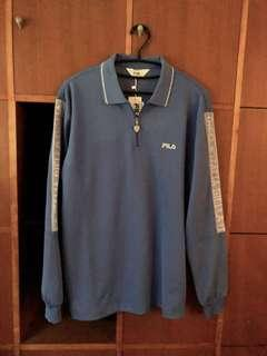 🚚 FILA. 水藍運動polo衫
