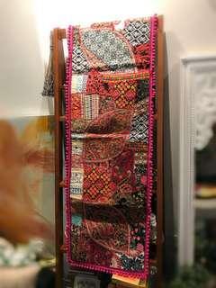 Handmade table runner/ cloth/ wall panel/ rug
