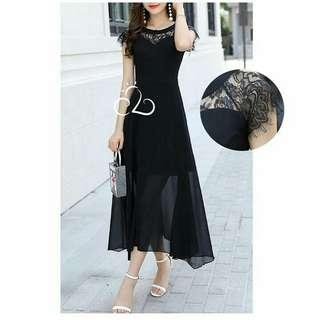 break lace dress