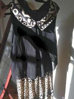 Korean peter pan sleeveless dress