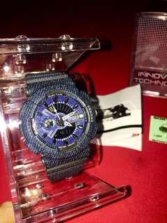 Jam Tangan Wanita Sport Motif Jeans Digitec DG 2115 T Dual Time Water Resist Original